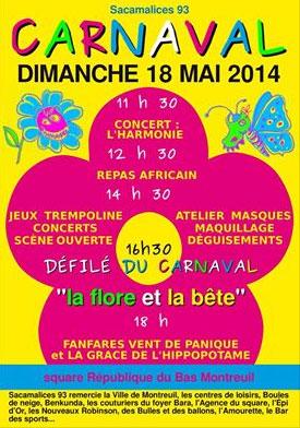 carnaval du bas montreuil: la-flore-et-la-bete, 18 mai 2014, fanfare