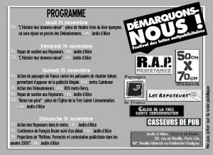 Demarquons-nous! Festival des luttes anti-publicitaires. fanfare paris. 15 novembre 2014