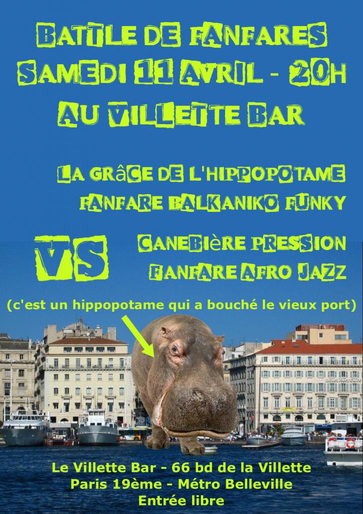 fanfare-canebiere-pression-VS-la-grace-de-l-hippopotame